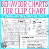 Monthly Behavior Charts for Clip Chart