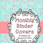 Monthly Binder Covers and Spine Labels {Pastel Pink and Blue}