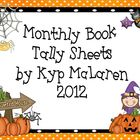 Monthly Book Tally Sheets