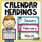 Monthly Calendar Headings