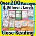 Monthly Close Reading Club {Use for Differentiated Weekly