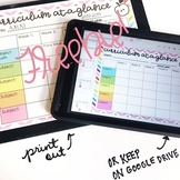 Monthly Curriculum Map {Editable, Free Printable}