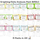 Monthly Graphing/Data Analysis Packs Bundle (15 Packs in All!)