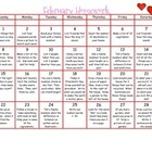 Monthly Homework Calendar - February