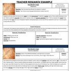 Monthly Internet Research Forms Teacher and Student