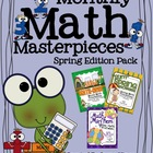 Monthly Math Masterpieces ~Spring Edition Pack Of Color By