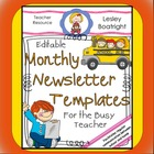 Editable 12  Monthly Newsletter Templates for the Busy Teacher