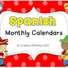 Monthly Spanish Calendar Set!!!