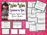 Word Work Throughout the Year~monthly activity boards