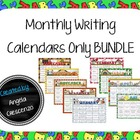 Monthly Writing Calendar Bundle Sept. - May {Calendar ONLY}