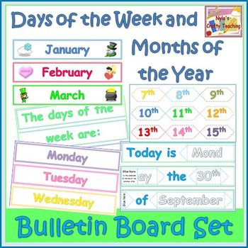 Months of the Year Interactive Bulletin Board for any Year