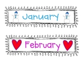Months of the Year Labels