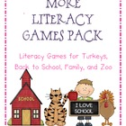 More Literacy Game Pack Bundle