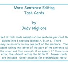 More Sentence Editing Task Cards