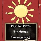 Morning Math 4th Grade (trial)