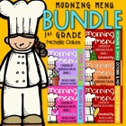 Morning Work: Morning Menu Bundle, The Complete First Grade Set