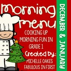 Morning Work: Morning Menu for Dec. and Jan.