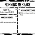 Morning Message PowerPoint Slides - Zebra Print Theme - (a