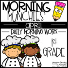 Morning Munchies { 1st Grade Morning Work - April}