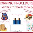 Morning Procedures Posters for Back to School