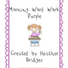 Morning Word Work: Purple