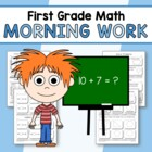 Morning Work First Grade Math Common Core