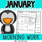 Morning Work! January Winter Kindergarten Common Core Dail