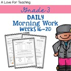 Morning Work Weeks 16-20