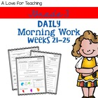 Morning Work Weeks 21-25