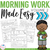 Morning Work for ELA Aligned to Common Core Packet 2