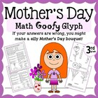 Mother's Day Flower Bouquet Math Goofy Glyph (3rd Grade Co
