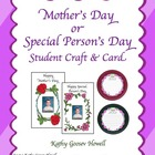 Mother's Day Gift Student Craft & Card