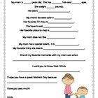 Mother's Day Letters and Coupons