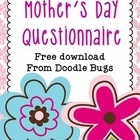Mother's Day  Questionnaire FREE download