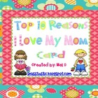 Mother's Day Top Ten  Craftivity