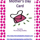 Mother's Day pocketbook card