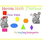 Mouse  Shape Math Stations