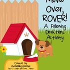 Move Over, ROVER! Following Directions Activity