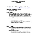 Movie Maker Trim and Audio Handout