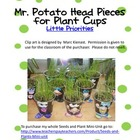 Mr. Potato Head Pieces for plant cups