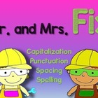 """Mr. and Mrs. Fix """"Double Sentences"""" Packet (First grade)"""