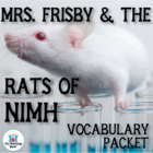 Mrs. Frisby and the Rats of NIMH Vocabulary Packet