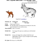 Ms. Coyote and the Doe - A Navajo Tale - Small Group Reade