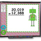 Multi-Digit Addition and Subtraction SMART BOARD Game