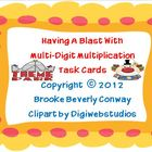 Multi-Digit Multiplication Task Cards