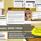 Multi-Leveled: MARK TWAIN Constructed Response Practice &