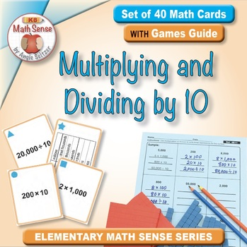 Multi-Match Cards 4B: Multiplying and Dividing by 10