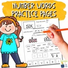 Multi-Sensory Sight Word Practice Pages - Number Words 0 to 10