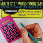 Multi-Step Common Core Word Problem Collection: Grade 3-4
