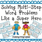 Multi-Step Problem Solving Task Cards & SCOOT- Super Hero Style
